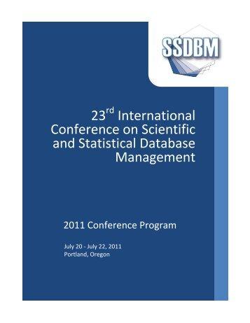 Final Program - SSDBM 2011