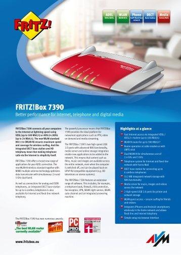 Data sheet FRITZ!Box 7390