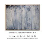 Halle 11.2 · E 5 raimund Girke · 1989 · mit Akzenten · 30 x 40 cm