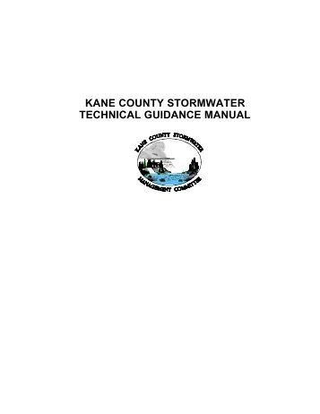 kane county stormwater technical guidance manual - Kane County, IL