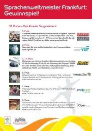 Sprachenweltmeister Frankfurt - Tourismus und Congress GmbH