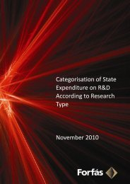 Categorisation of State Expenditure on R&D according to ... - Forfás