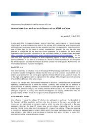 Human infections with avian influenza virus H7N9 in China - FLI