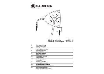 OM, Gardena, Wand-Schlauchbox, Art 02648-29, Art 02656-29 ...