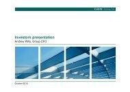 Investors presentation - GAM Holding AG