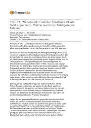POL-DA: Weiterstadt: Falscher Staatsanwalt will Geld ... - Firmendb