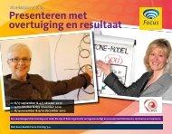 Presenteren met overtuiging en resultaat - Focus Conferences