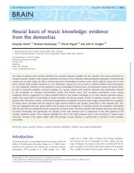 Neural basis of music knowledge: evidence from the ... - Frontier