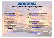 Weihnachtsmärkte in Oberbayern 2009