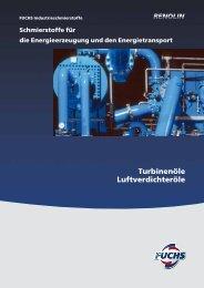 Turbinenöle Luftverdichteröle - fuchs europe schmierstoffe gmbh