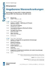Symposium - Fortbildung - UniversitätsSpital Zürich