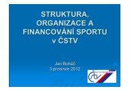 Struktura, organizace a financování sportu v ČSTV - Fakulta tělesné ...