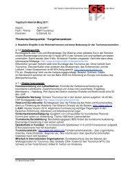 Themenschwerpunkte / Vorgehensweisen: - GastroSuisse