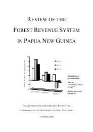 review of the forest revenue system in papua new ... - Forest Trends