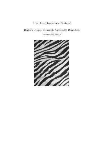 Komplexe Dynamische Systeme - Technische Universität Darmstadt