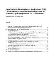 Projektskizze zum Berufseinstiegs-Projekt - Lehreinheit ...