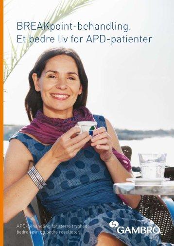 BREAKpoint-behandling. Et bedre liv for APD-patienter - Gambro