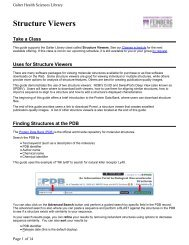 Uses for Structure Viewers - Galter Health Sciences Library