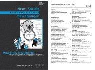 Editorial - Forschungsjournal Soziale Bewegungen
