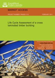 Life Cycle Assessment of a cross laminated timber building