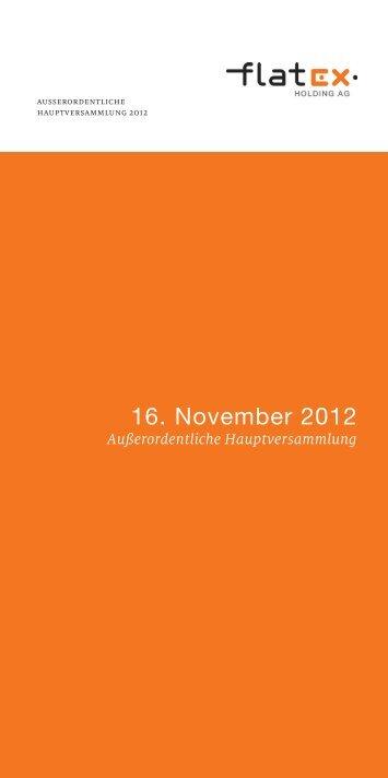 Einladung zur Außerordentlichen ... - flatex Holding AG