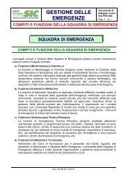 compiti e funzioni della squadra di emergenza - C.R. ENEA Frascati ...