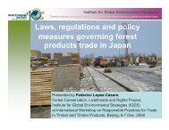 Timber procurement policy - Forest Trends