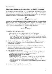 Baumschutzsatzung - Friedrichroda