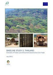 BASELINE STUDY 5, Thailand - Forest Trends