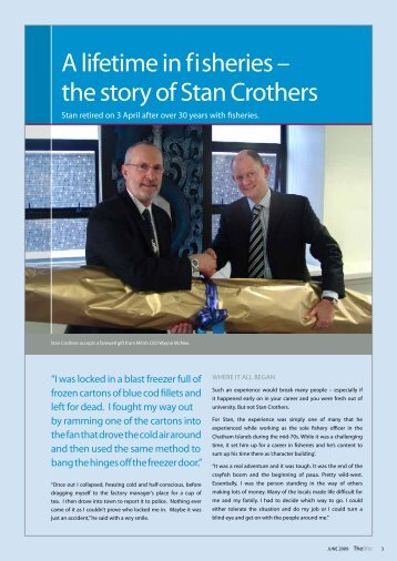 A lifetime in fisheries – the story of Stan Crothers - Ministry of Fisheries