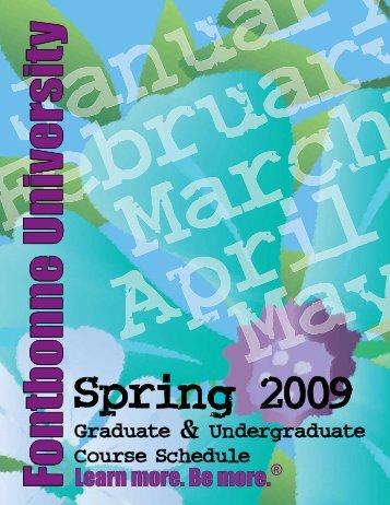 Spring 2009 Course Schedule - Fontbonne University