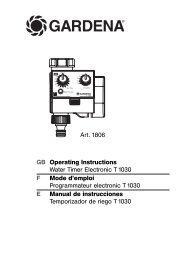 OM, Gardena, Water Timer Electronic T 1030, ARt 01806-20, 2004-11