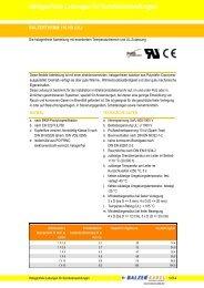Halogenfreie Leitungen für Sonderanwendungen - Balzer Kabel