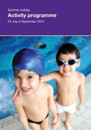 Activity programme - Fusion Lifestyle