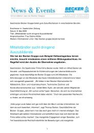 Template News und Events - Becker Reinraumtechnik GmbH