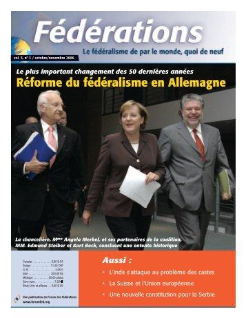 Réforme du fédéralisme en Allemagne - Forum of Federations
