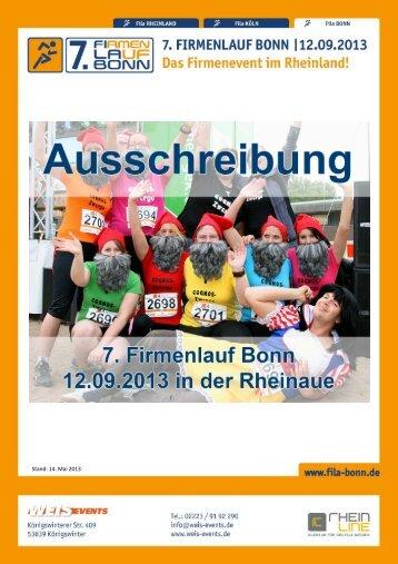 Ausschreibung 7. Firmenlauf Bonn (PDF, 723 kB)