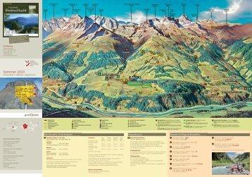 Panoramakarte, Wanderungen ab Bergstation - Surselva.info