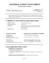 Viscarin® SD 389 Carrageenan - FMC Corporation