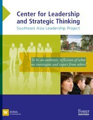 Center for Leadership and Strategic Thinking - University of ...