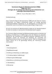 TRBS 2141 Teil 1 - Gewerbeaufsicht - Baden-Württemberg