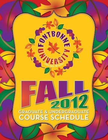 Fall 2012 Course Schedule - Fontbonne University