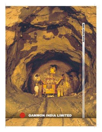 Annual Report 2004 - Gammon India