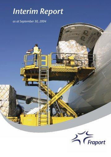 Group Interim Report January 1 to September 30, 2004 - Fraport AG