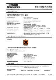 VANISH folteltávolító por(REACH) - Galatea Kft.