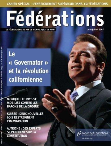 Le « Governator » et la révolution californienne - Forum of ...