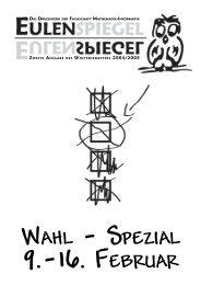 WAHL - SPEZIAL - Fachschaft Mathematik/Informatik