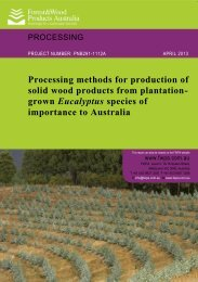 Processing methods for production of solid wood products from ...
