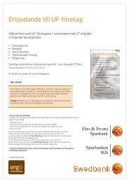 Kontaktpersoner och mer information - Färs & Frosta Sparbank