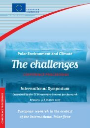 Polar Environment and Climate - European Commission - Europa
